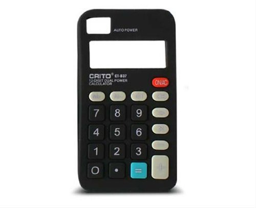 KSIX Freestyle Calculatrice Etui en Silicone pour iPhone 4/4S Noir noir