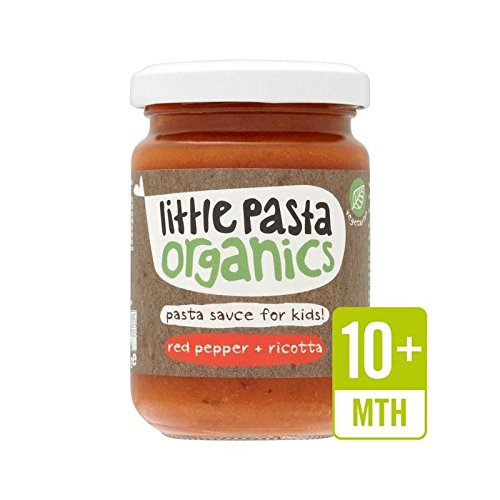 Little Pasta Organics Free From Red Pepper & Ricotta Pasta Sauce 130g - Pack of 2