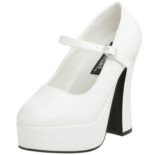 Demonia DOLLY-50, Damen Plateau Pumps, Weiß (Weiss (Wht Pat)), 38 EU