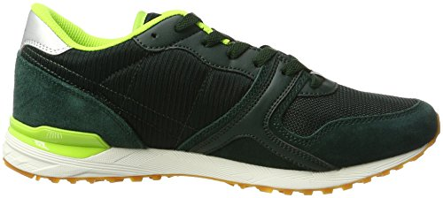 Lotto Sport Record IX Net, Sneakers Basses Homme Vert (Jungle/slv Mt)