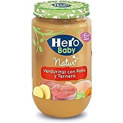 Hero Baby Natur Verduritas con Pollo y Ternera Potito para Bebés a partir de 6 meses 235 g