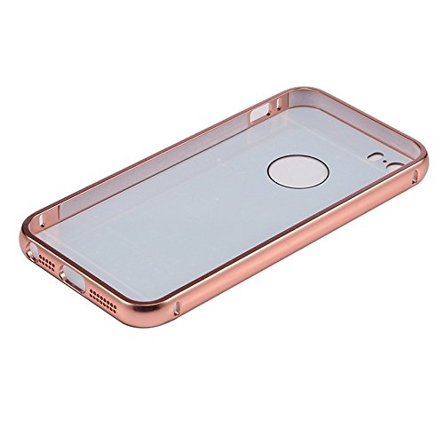 Wkae Case Cover Push-Pull-Art-Metallüberzug Auto Frame + Acryl Back Cover Kombination Hülle für das iPhone 5 &5s &SE ( Color : Magenta ) Magenta