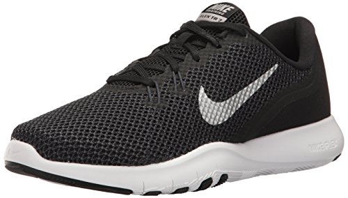 Nike Damen Flex Trainer 7 Fitnessschuhe Schwarz (Black/Metallic Silver/Anthracite/White 001) 36.5 EU - Damen Neueste Nike Schuhe