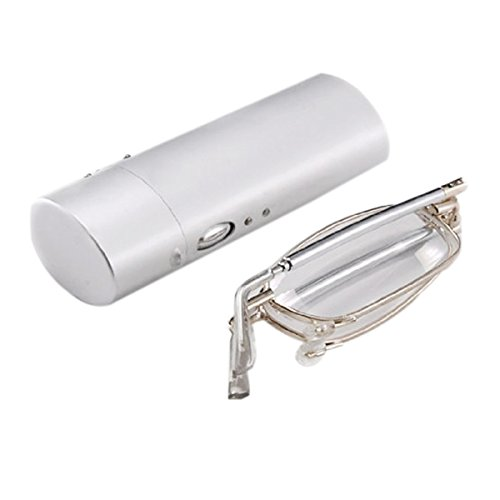 ULTNICE Faltung lesen Gläser handliche Anti-Müdigkeit klare Vision + 1,50 Brille Brille mit Tasche Hard Case