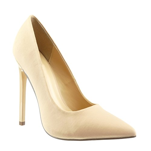 Angkorly Damen Schuhe Pumpe - Stiletto - Sexy - Schick Stiletto High Heel 12.5 cm Beige