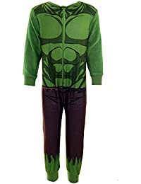 Boys Childrens Official Marvel Avengers Incredible Hulk Iron Man Spiderman Onesie 2-8 Years