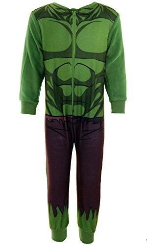 Pijama para niños, diseño de personajes de Marvel: el increíble Hulk de Los Vengadores, Iron Man, Spiderman, de 2a8años verde Hulk