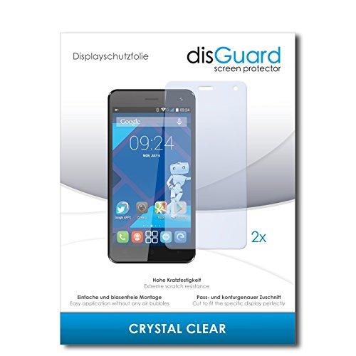 disGuard® Bildschirmschutzfolie [Crystal Clear] kompatibel mit Haier Voyage G31 [2 Stück] Kristallklar, Transparent, Unsichtbar, Extrem Kratzfest, Anti-Fingerabdruck - Panzerglas Folie, Schutzfolie