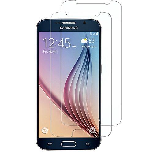 Samsung S6 Schutzfolie, Acelive 2 Stück Gehärtetem Glas Panzerglas Displayschutzfolie Folie für Samsung Galaxy S6 (Bewusst Kleiner Als Das Display, Da Dieses Gewölbt Ist)