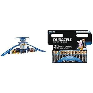 Super Wings - Aeropuerto Internacional Super Wings Jett & Donnie - luz & sonido (ColorBaby 43961) con Duracell Ultra Power - Pack DE 12 Pilas alcalinas AAA