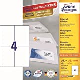 AVERY Zweckform Etiketten Inkjet/Laser/Kopier 105x148mm VE=880 Stück weiß