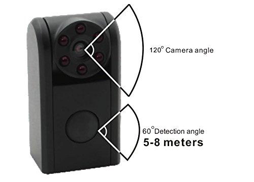 Spy-MAX Stern-Lite Ultra Mini 20' Pir Spion Nachtsichtkamera W / - HD-Video & Audio Recorder 720 P 1280 X 720 Video im Avi-Format mit 30 Bildern pro Sekunde (Bild-frame-kamera Spion)