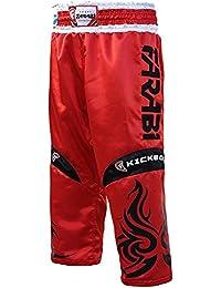 Farabi Kick Boxing Pantalones Pantalones Mix Artes Marciales Full Contact Azul Rojo Negro Adulto y niños