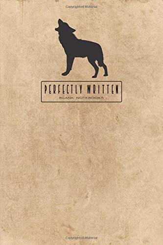 Perfectly Written Blank Notebooks: Black Wolf por Perfectly Written