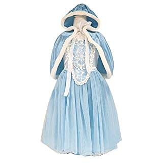About Time Co Girl's Flower Princess Cape Fancy Dress 2-3 years (Blue)