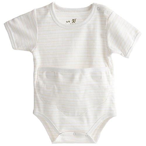 medibini Anti-Bauchweh-Baby-Body-Set, Kurzarm mit Klett-Kängurutasche + nip Moor-Gel-Wärmekisse (lindert Bauchschmerzen, Blähungen u. 3-Monats-Koliken) Größe 62/68