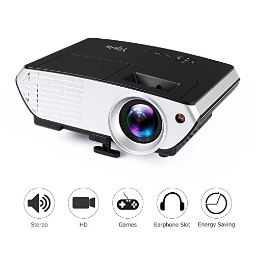 Videoproyector, yipin Video Proyección LCD Multimedia 2000lúmenes 800* 480Resolución Proyector Home Cinema...
