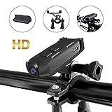 Action Camera da bicicletta Sport 1080P HD Videoregistratore Portatile di Sicurezza Videoregistratore Outdoor Action Camera Adatto per Moto/Casco/Bicicletta Camera