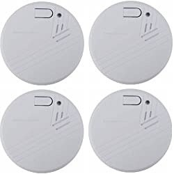Photoelectric Smoke Alarm Loud Cordless Fire Smoke Detector Home Uk Standard from BARGAINSHUT