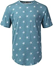 URBANCREWS Mens Hipster Hip Hop All Over Print Crewneck Short Sleeve T-Shirt