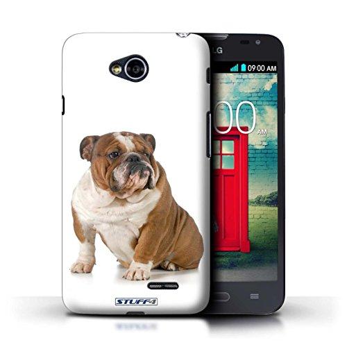 Kobalt® Imprimé Etui / Coque pour LG L70/D320 / Husky/Esquimau conception / Série Chiens Bouledogue