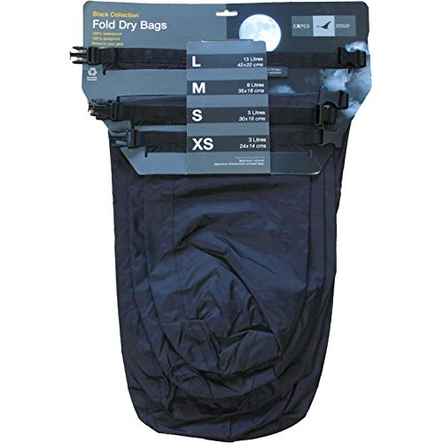 Exped Fold Dry 4 Pack Drybag One Size Black