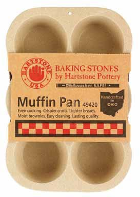 Hartstone Pottery Baking Stone Muffin Pan by Hartstone Pottery