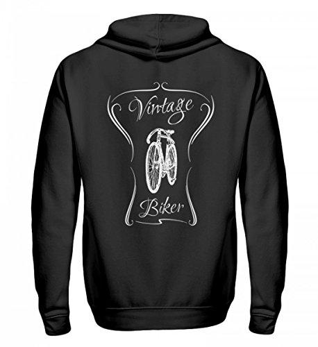 Hochwertiger Zip-Hoodie - Vintag Biker (hell) - Ein Motiv für alle leidenschaftlichen Drahtesel Fahrrad Fahrer - das ist nicht alt sondern vintage (Der Fahrer Plakat)