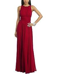 Ssyiz Elegante Plisado Gala Chiffón Mujer de Noche de Vestido(Privado personalizado)