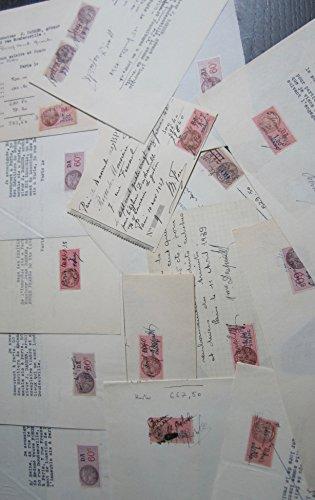 16 Timbres Fiscaux D.A. Sur 15 Papiers Libres (1937-1943) par D.A.