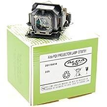 Lámpara de proyector Alda PQ DT00781 / RLC-027 / 78-6969-6922-6 / 78-6969-9903-2 para HITACHI CP-RX70, CP-X1, CP-X2, CP-X253, CP-X4, ED-X20, ED-X22, HCP-60X, HCP-70X, HCP-75X, HCP-76X, MP-J1, MP-J1EF / HUSTEM MVP-T20 / VIEWSONIC PJ355, PJ358 / 3M PICCOLO X20, X20 / DUKANE ImagePro 8770 Proyectores, módulo de la lámpara con la caja