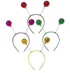 P 'tit Clown 40393Haarreif Kugeln-Gold/rosa/rot/grün