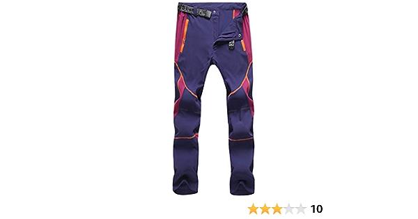 CHLNIX Pantalon de randonn/ée l/éger /à s/échage Rapide pour Femme Dames Zip Off Stretch Marche Camping Running Pantalon Hydrofuge