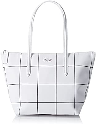 Lacoste NF2032CF, Bolso Bandolera para Mujer, Blanco Cuadrado (White Square), 24.5 x 14.5 x 23.5 cm
