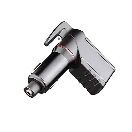 QYY Auto Ladegerät Sicherheitshammer, 3 in 1 Dual USB Ladegerät Ports Max 2.4A und Sicherheitsgurt Cutter für Auto Emergency Escape Tool