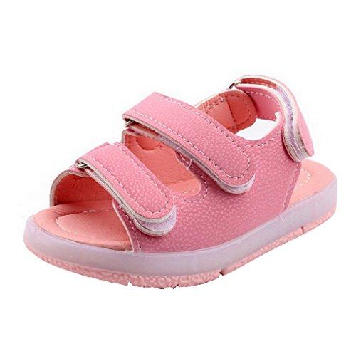 513204397164d Evedaily Unisexe Chaussures Premiers Pas Bébé Garçon Fille Été Sandales  Souples en Cuir Semelle Antidérapante Velcro