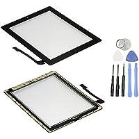 Pantalla táctil de cristal digitalizador Asamblea para Apple iPad 3con botón de inicio y soporte de cámara y adhesivo cinta premontado