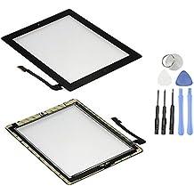 Touch screen in vetro digitalizzatore per Apple iPad 3 con tasto Home e fotocamera staffa e nastro adesivo premontati