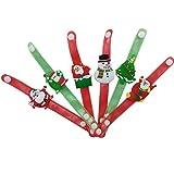 rokoo 12pezzi/set di bambini giocattoli LED Bracciale luminoso Snowman Albero di Natale Santa Claus Bambini Bambini MUCHACHAS bambola regali 1