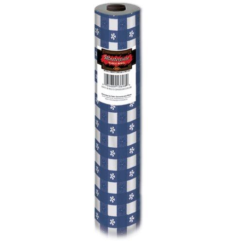 Beistle 50937-B Kunststoff Masterpiece Gingham Tabelle Roll - Blau