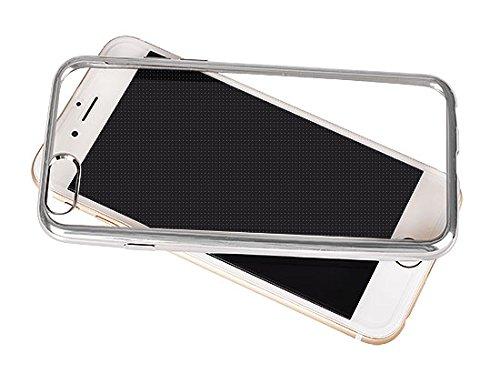 "CLEAR CASE für Apple iPhone 7 Plus 5.5"" Hülle Etui Flip Cover Silikon Tasche Back Case Transparent (silber) silber"