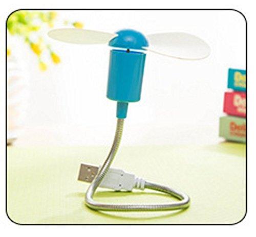 kotiger USB Tragbare Mini Notebook biegbarer Schlange Metall Fan für Computer blau -