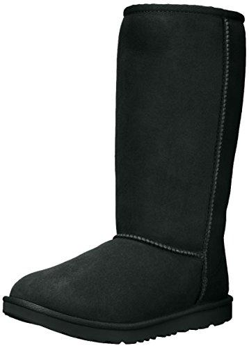 UGG Kids K Classic Tall II Pull-on Boot, Black, 6 M US Big Kid