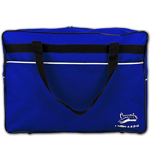 Reisetasche 44 Liter - Handgepäck - Bordcase - Bordgepäck - Handtasche - Reisetasche Flugzeug mit Farbauswahl (Schwarz) Blau