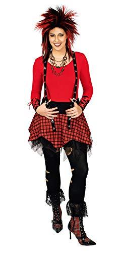 K35230822-36-38 Damen Punker Rock Pankerrock Gr.36-38 (Biker Girl Kostüm Kinder)