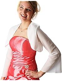 Torera de noche para fiestas y bodas como dama de honor, muselina, Anna 01