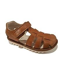 Garvalin - Sandalias de Vestir de Cuero para niño Marrón marrón Claro