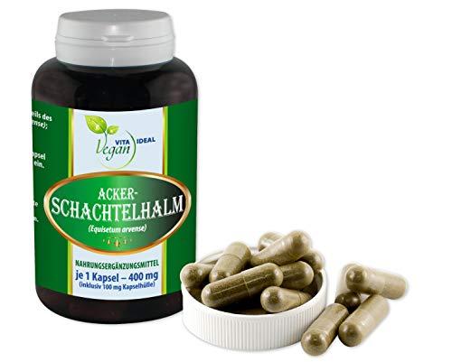 VITAIDEAL VEGAN® Ackerschachtelhalm (Schachtelhalm, Zinnkraut) 90 pflanzliche Kapseln je 400mg rein natürlich ohne Zusatzstoffe.