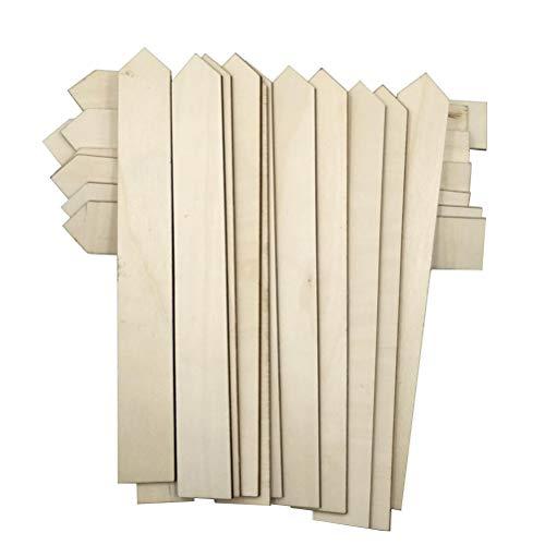 Unfertigen Holz-stücke (Yardwe 25 Stücke Holzpflanze Label Garten Stake Tags Garten Kindergarten Etiketten Pflanze Tags für Feld oder Container)