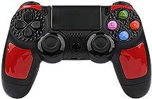 Wireless Controller für PS4, KINGEAR Pro Controller für PlayStation 4 USB Gamepad für PS4 with Touchpanel Spielbrett, LED-Anzeige - Rot